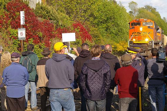 BC Train Blockade
