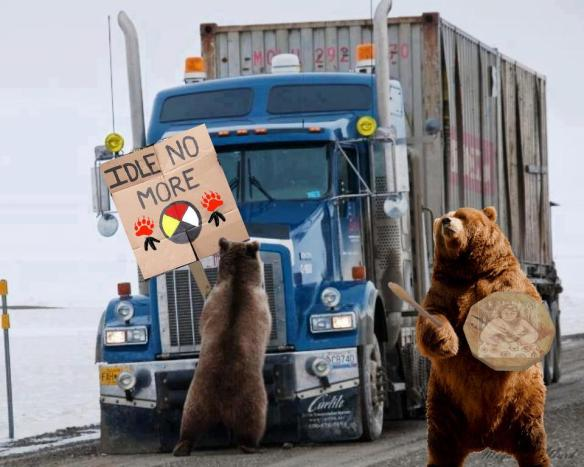 Idle No More Bear Blockade