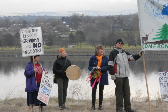 Standing in solidarity by the Snake River (Greg Mack photo)