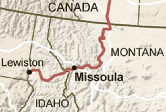 Rural Megaload Route Map - Large