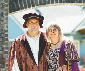 Bill and Dianne French are the king and queen of the 40th Moscow Renaissance Fair.