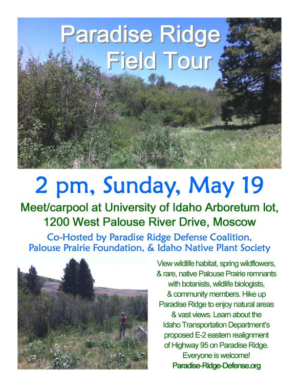 Paradise Ridge Field Tour Flyer