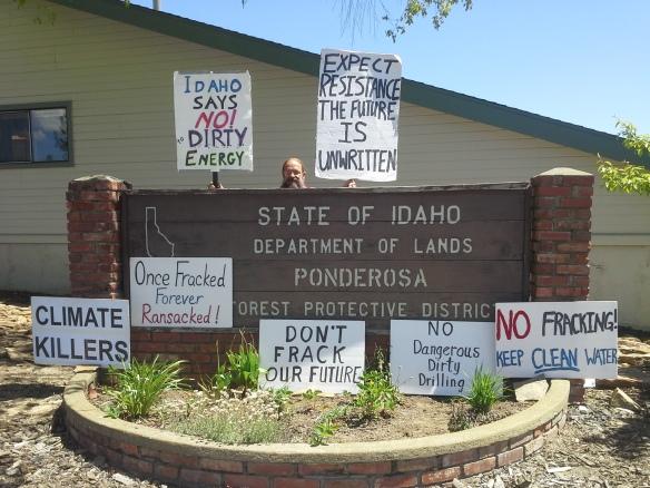 Stop the Frack Attack, Idaho! in Deary (Helen Yost photo)