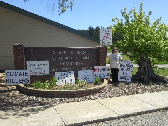 Stop the Frack Attack, Idaho! in Deary (Helen Yost photo)