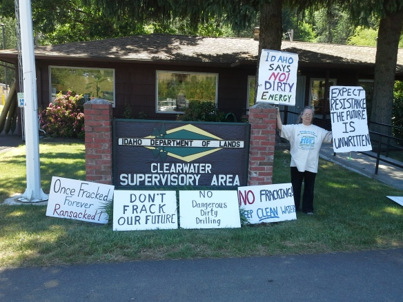 Stop the Frack Attack, Idaho! in Orofino (Helen Yost photo)