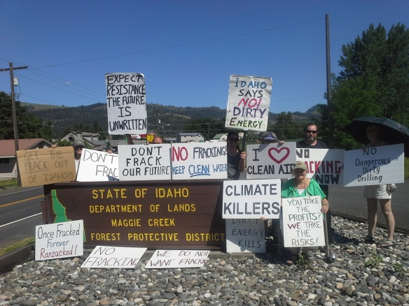 Stop the Frack Attack, Idaho! in Kamiah (Helen Yost photo)