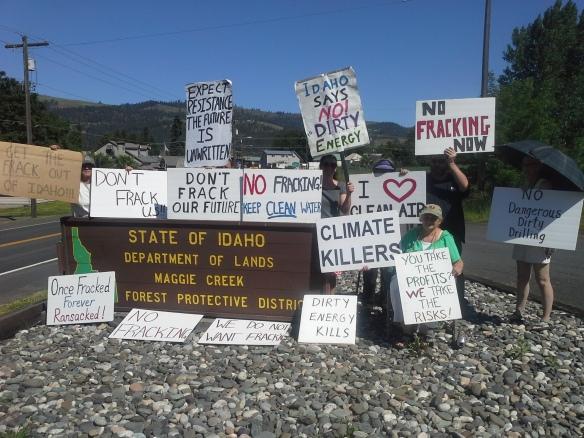 Stop the Frack Attack, Idaho! in Orofino (Helen Yost photo)