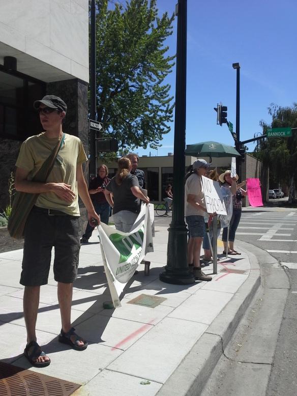 Stop the Frack Attack, Idaho! in Boise (Helen Yost photo)