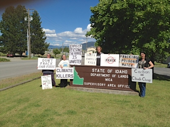 Stop the Frack Attack, Idaho! in Coeur d'Alene (Lori Batina photo)