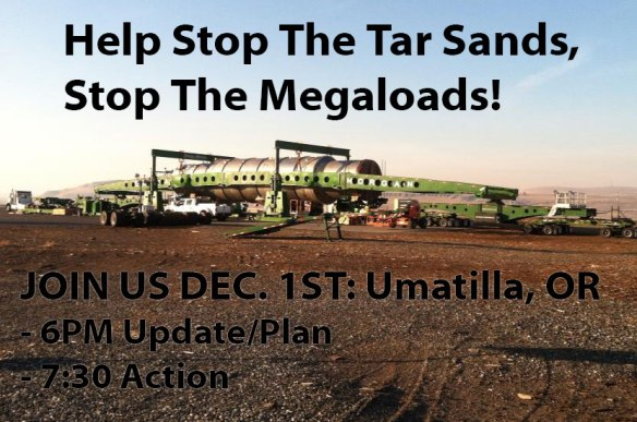 Stop the Tar Sands Megaloads in Oregon!