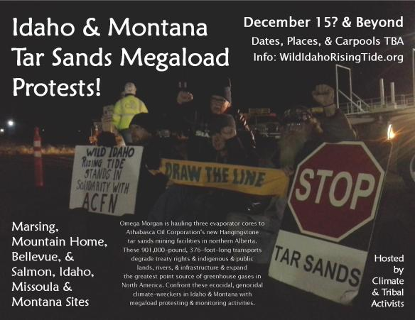 Idaho & Montana Tar Sands Megaload Protests Flyer