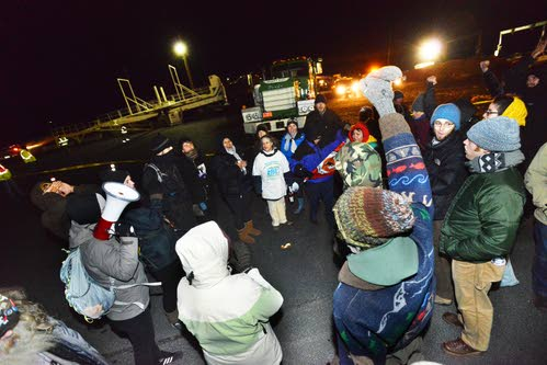 Protesters Block Megaload at Port of Umatilla - Associated Press