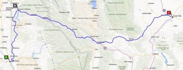 Mammoet Megaloads 2014 Route