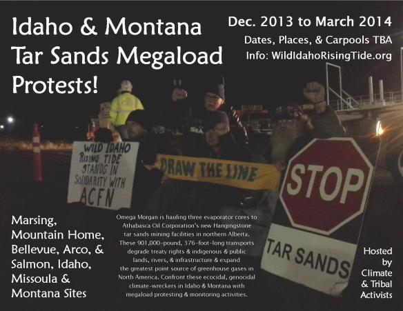 Idaho & Montana Tar Sands Megaload Protests Flyer 2