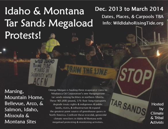 Idaho & Montana Tar Sands Megaload Protests Flyer 2