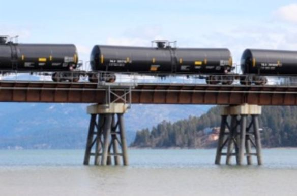 Lake Pend Oreille Oil Train