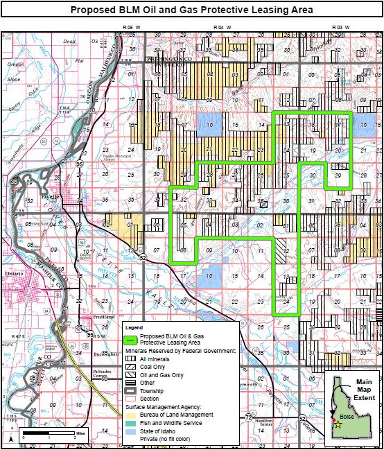 Proposed BLM Oil & Gas Protective Leasing Area