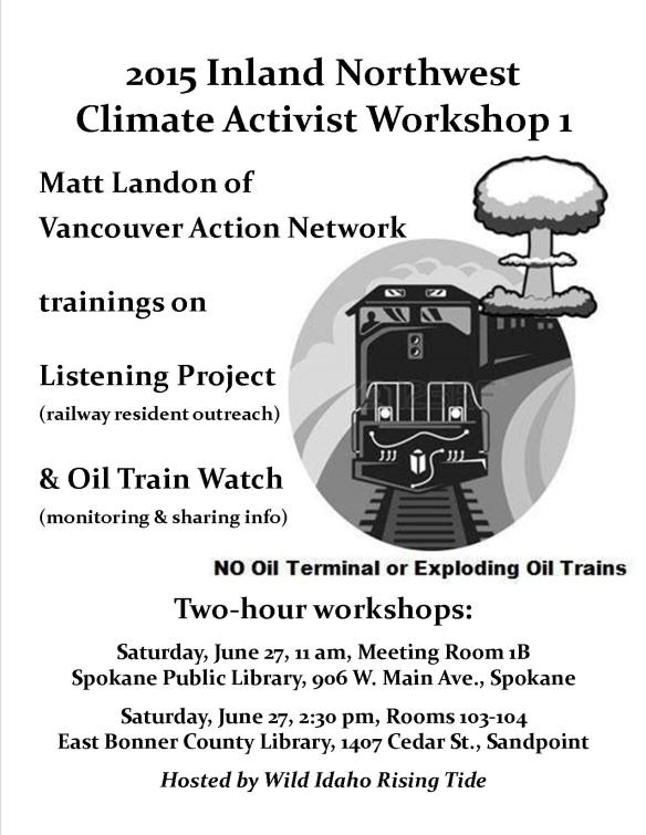 2015 Inland Northwest Climate Activist Workshop 1