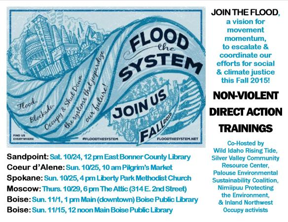 Idaho Flood the System Trainings 2 Flyer