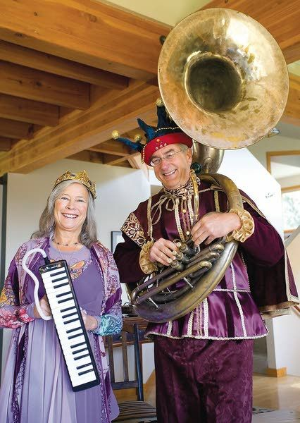 Jeanne McHale and Fritz Knorr of rural Moscow will serve as the queen and king of the Moscow Renaissance Fair on Saturday and Sunday (Geoff Crimmins/Moscow-Pullman Daily News photo).