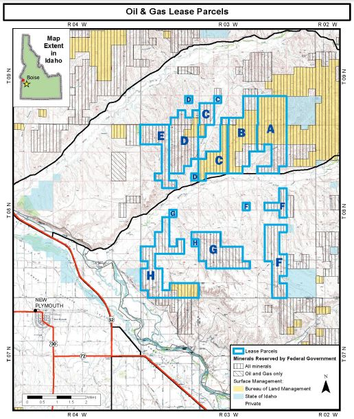 BLM Sheep Ridge Oil & Gas Lease Parcels 7-27-16