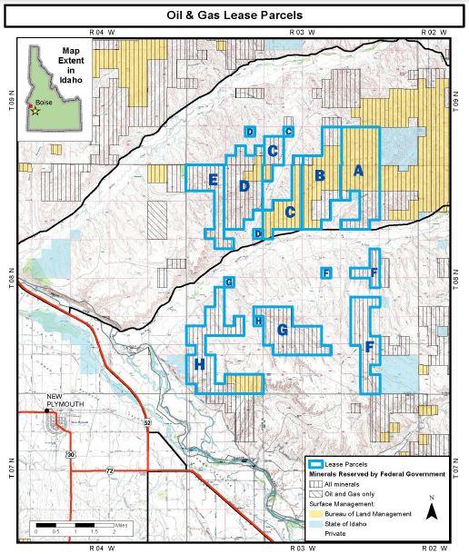 BLM Sheep Ridge Oil & Gas Lease Parcels 7-27-16