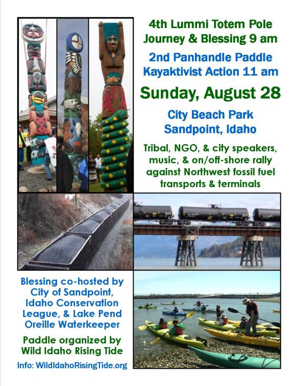 Totem Poles & Kayaks Against Fossil Fuels Flyer
