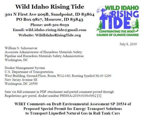 Coal/Oil Trains/Ports | Wild Idaho Rising Tide